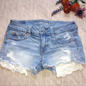 American Eagle Stretch Shortie Jean Shorts